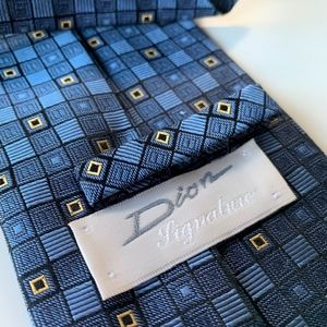Dior Signature Blue Pattern Mens Tie